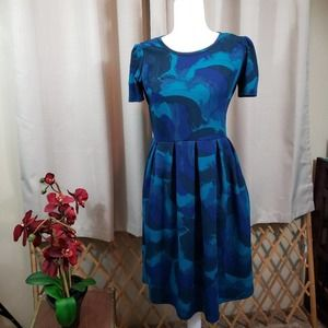 "LULAROE ""Amelia"" Style Abstract Print Dress"
